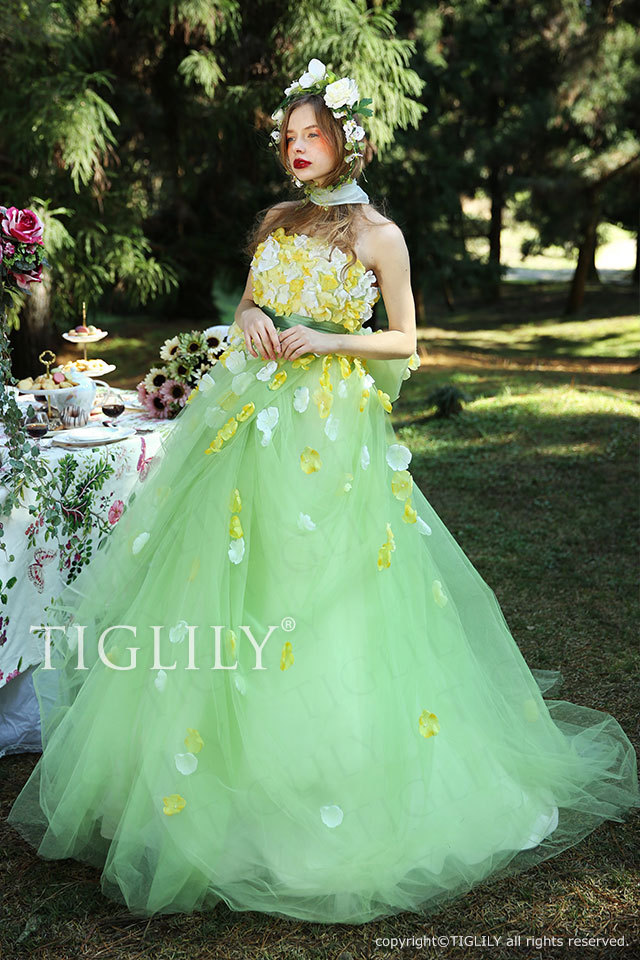 c159 ソフィア Sophia TIGLILY ティグリリィ カラードレス