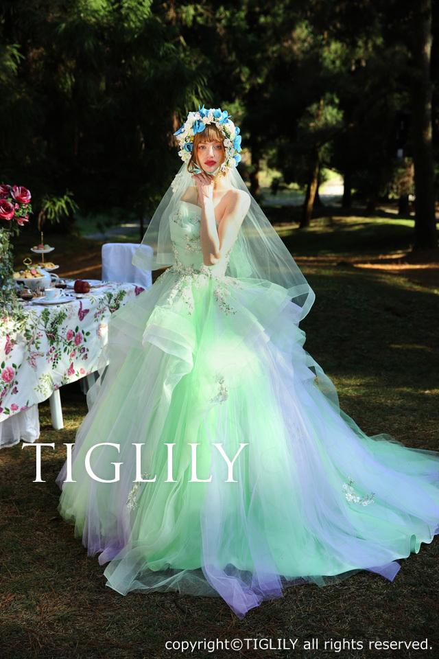 c161 スカーレット Scarlett TIGLILY ティグリリィ カラードレス