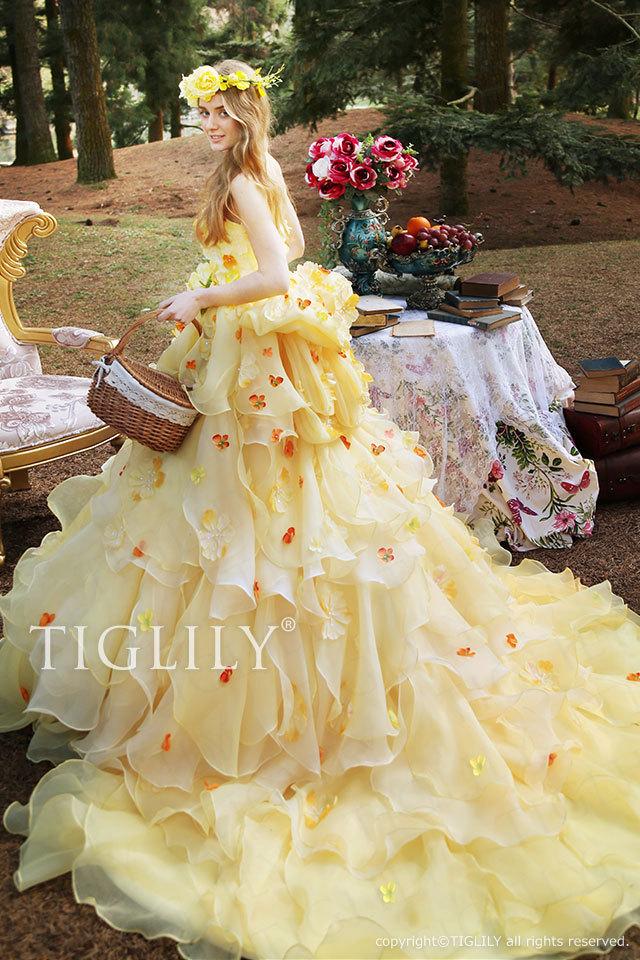 TIGLILY カラードレス c169 バーバラ Barbara