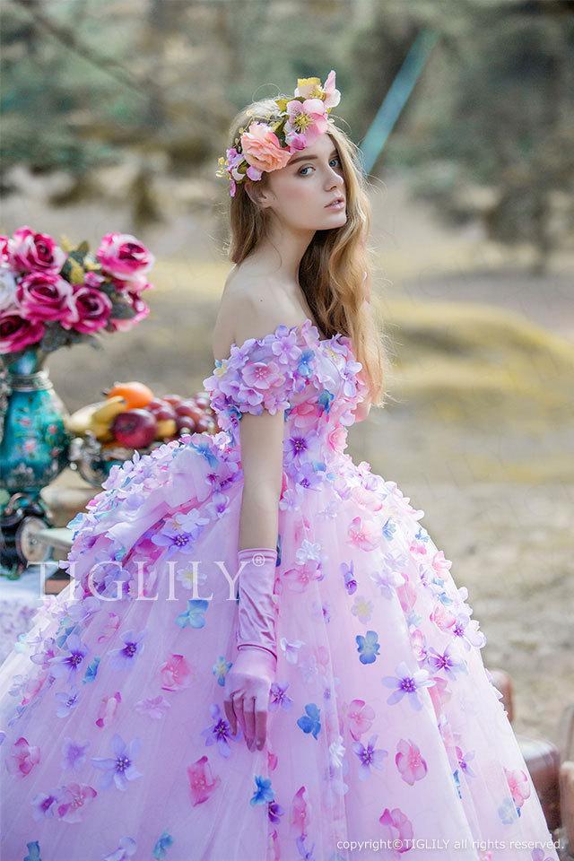 c171 TIGLILY カラードレス