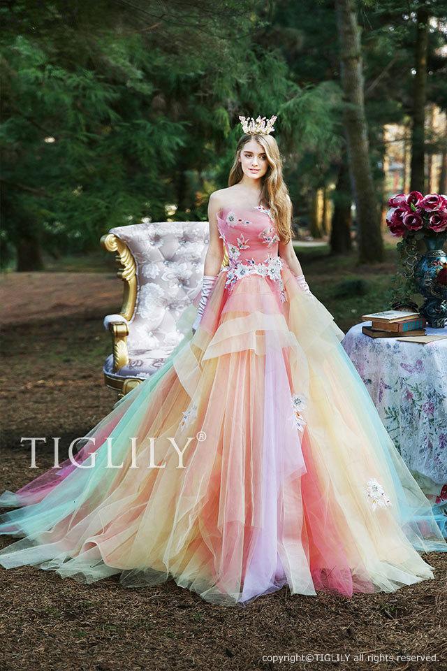 c176 ジョイス Joyce TIGLILY カラードレス