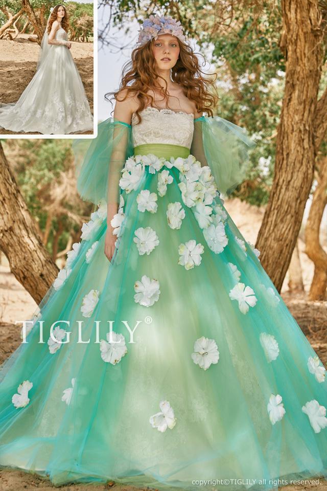 【テイラー Taylor】お花のドレス_2way_オーバースカート(c194)