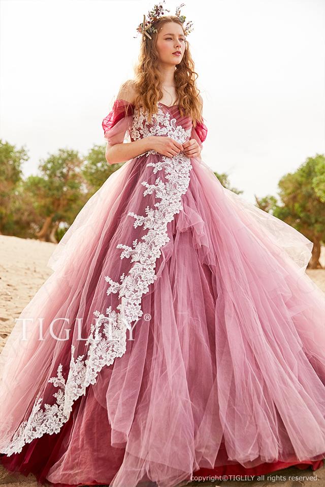 【アトリア Atria】ウェディングドレス_カラードレス(c201)