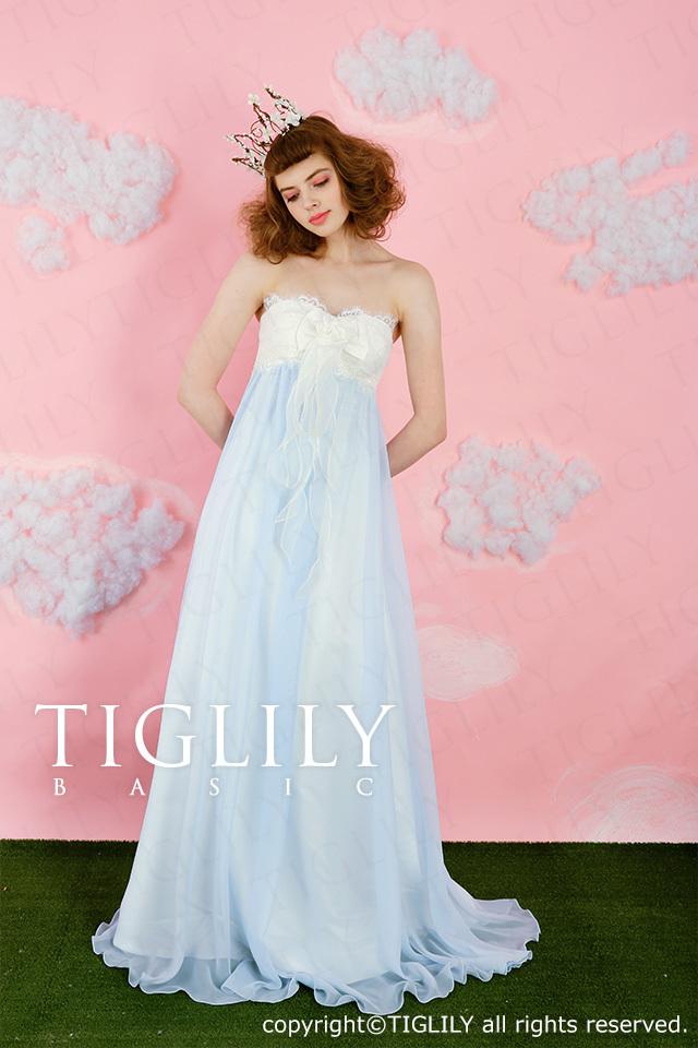 TIGLILY BASIC カラードレスcb006