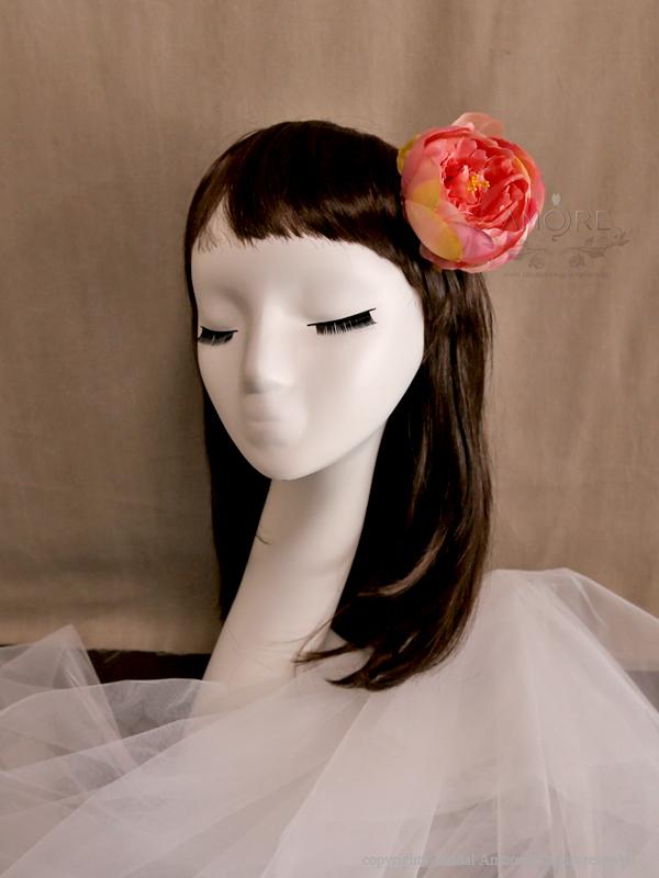 花飾り(ヘッドドレス、ブローチ、髪飾り)(f007)