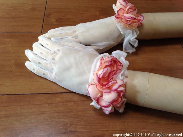 お花のウエディンググローブ(gf007)