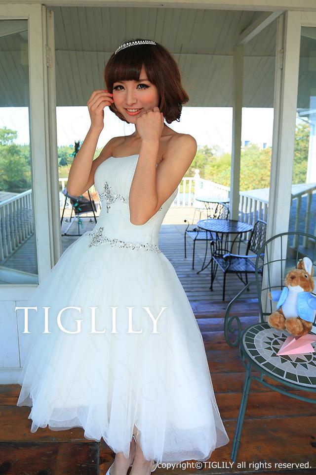 TIGLILY ミニドレス s050