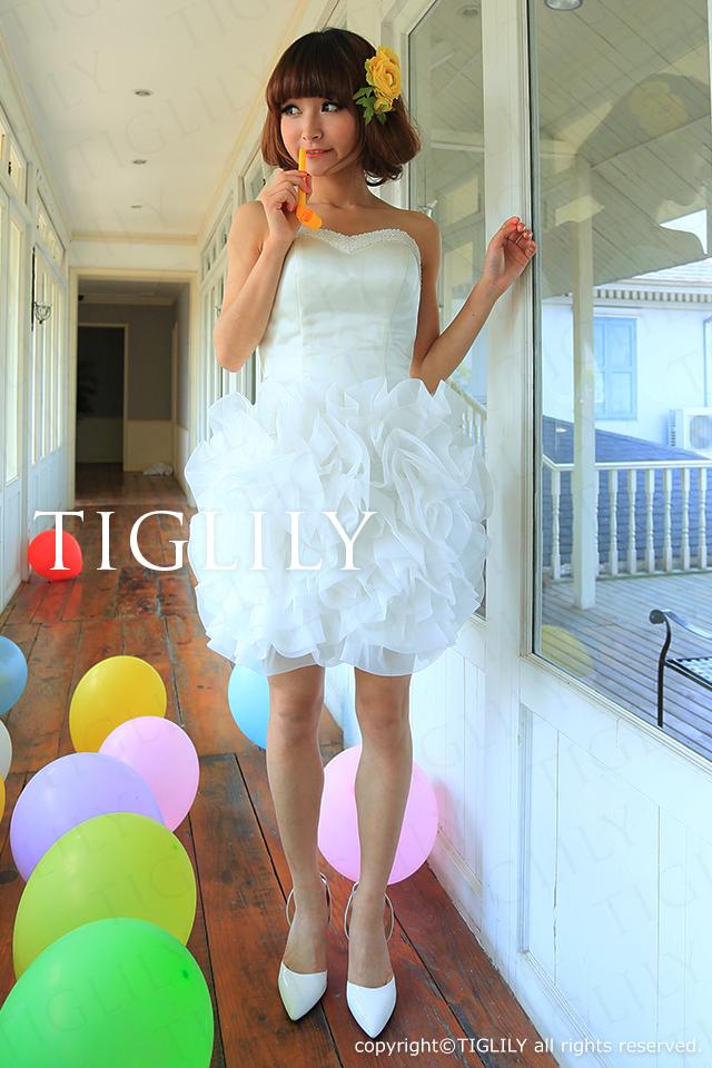 TIGLILY ミニドレス s082