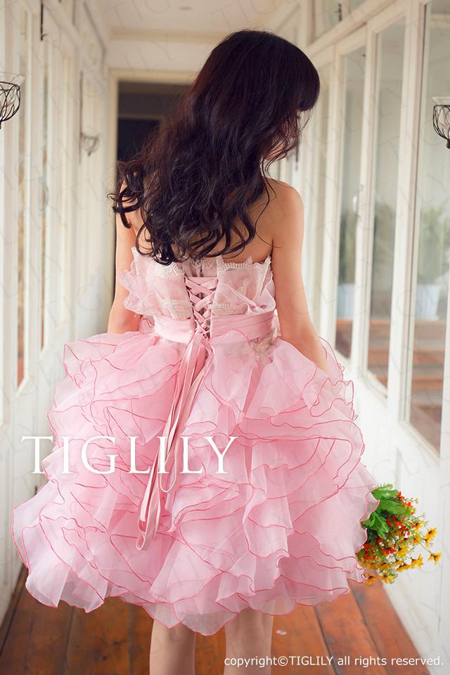 TIGLILY ミニドレス s109