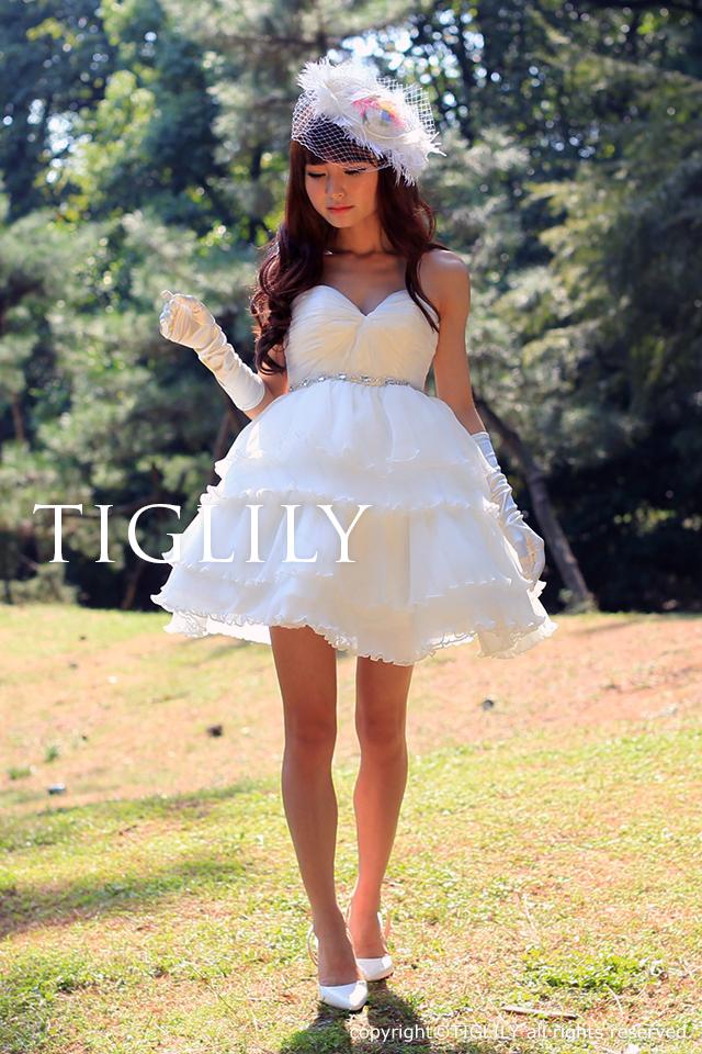 TIGLILY ミニドレス s128