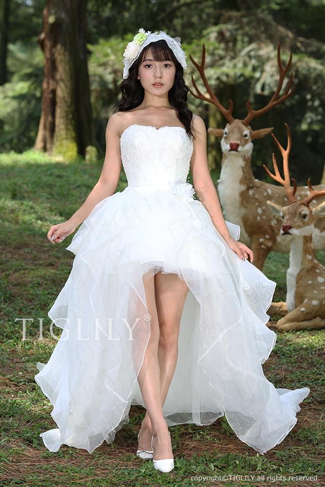 【TIGLILY】ウェディングドレス_ミニドレス(s130)
