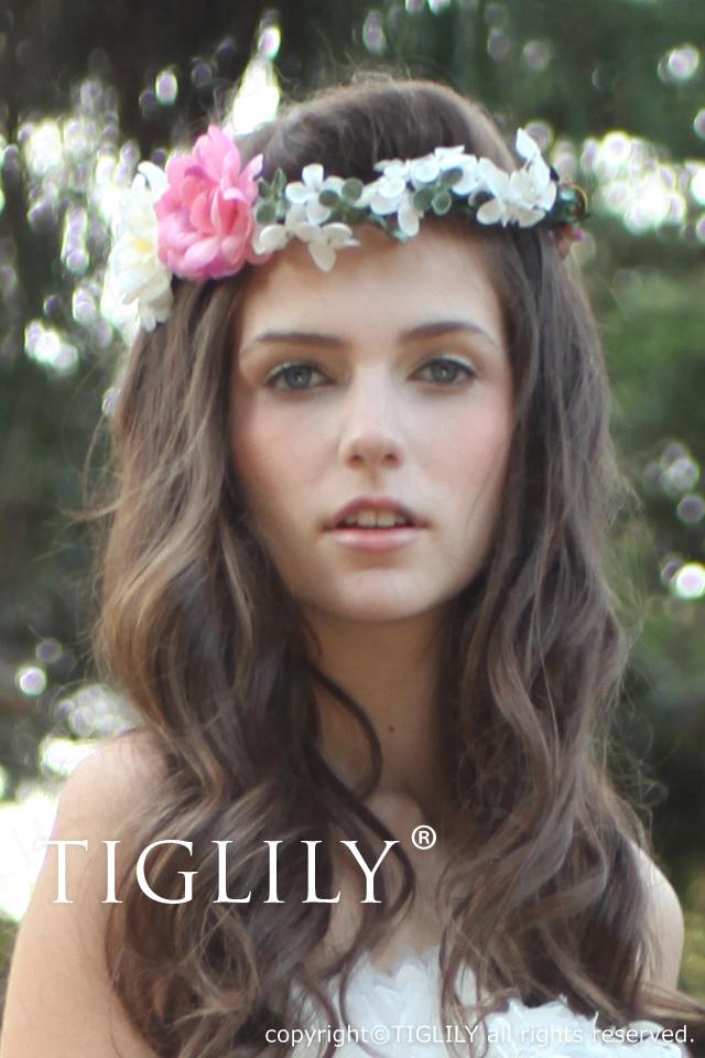 お花のヘッドドレス 花冠(th006)
