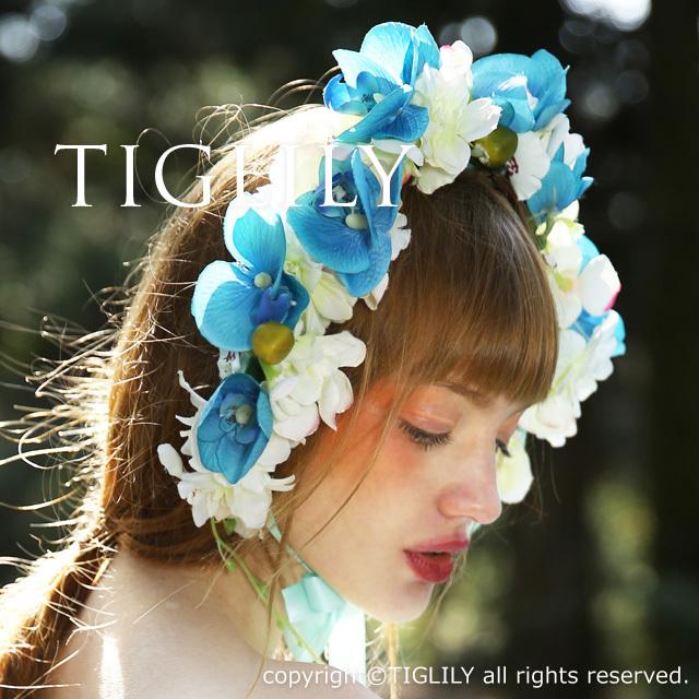 お花のヘッドドレス、花冠(th054)