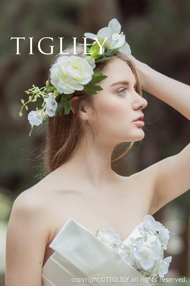 お花のヘッドドレス 花冠(th056)