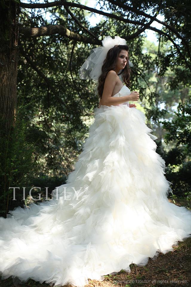 w1106 TIGLILY ホワイトドレス ウェディングドレス
