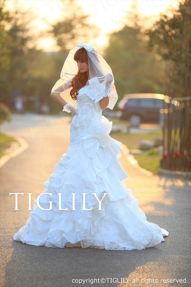 TIGLILY ホワイトドレス w1112