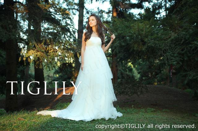 TIGLILY ホワイトドレス w194