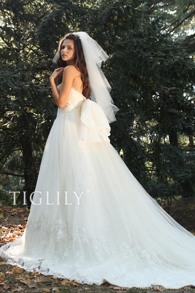 【TIGLILY】ウェディングドレス_ホワイトドレス(w2002)    145,800円(税別)