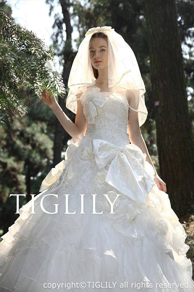 TIGLILY ホワイトドレス w2028