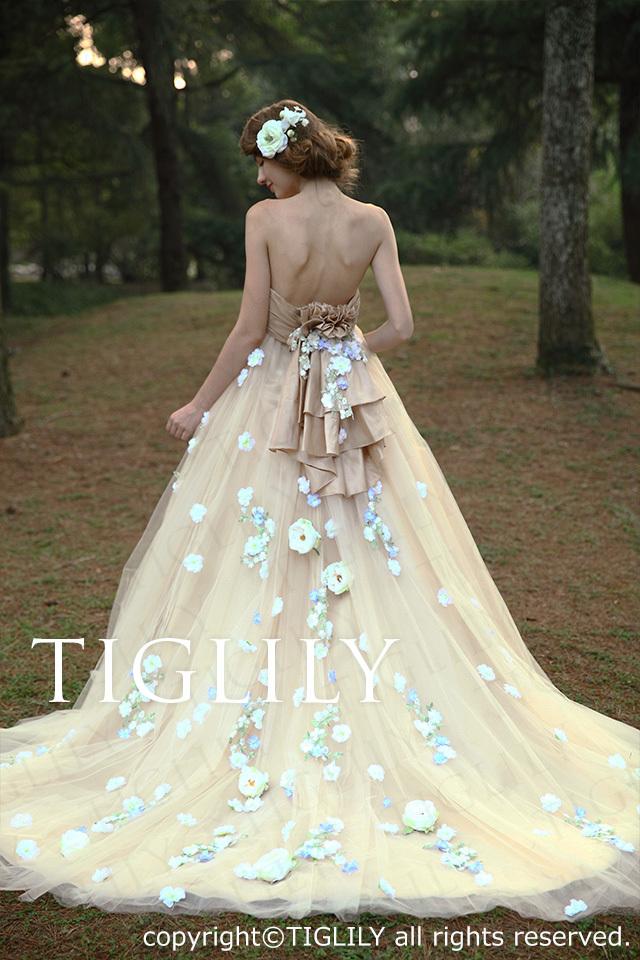 TIGLILY ホワイトドレス w2030
