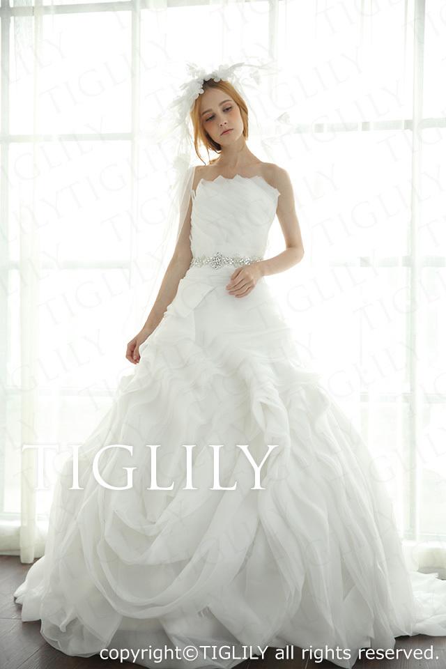 TIGLILY ホワイトドレス w2031