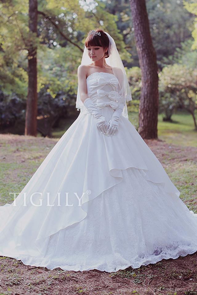w2033 TIGLILY ティグリリィ ホワイトドレス ウェディングドレス