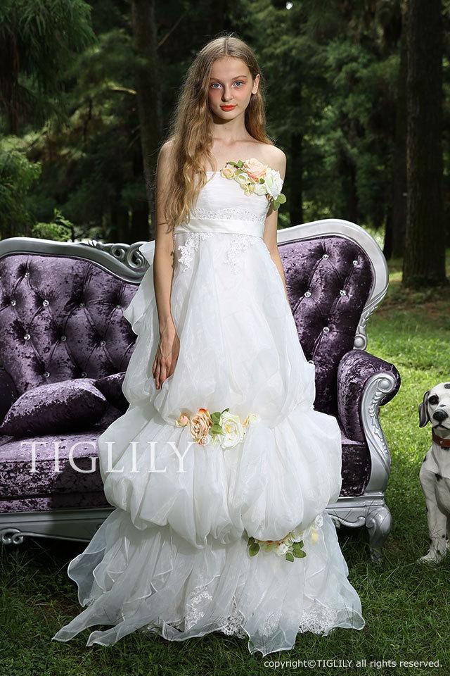 w300 TIGLILY ホワイトドレス