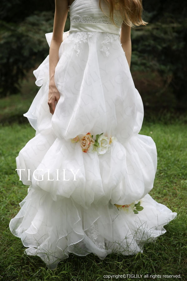 TIGLILY ホワイトドレス w300