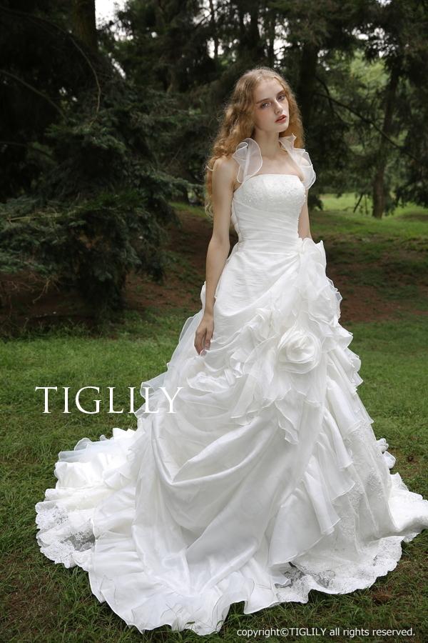 TIGLILY ホワイトドレス w303