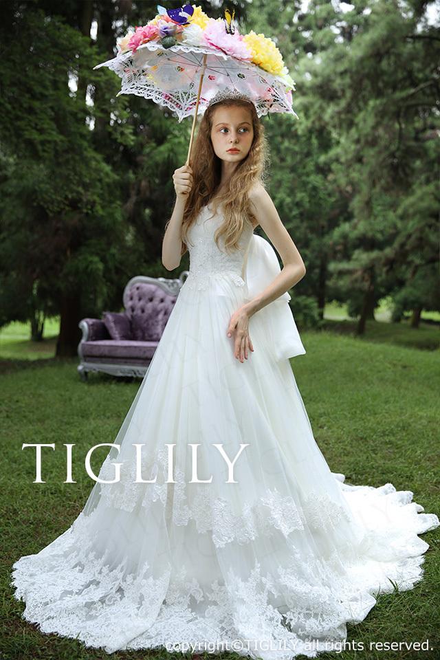 TIGLILY ホワイトドレス w304