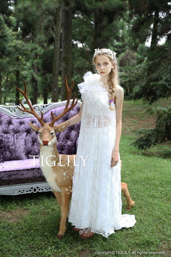 TIGLILY ホワイトドレス w305