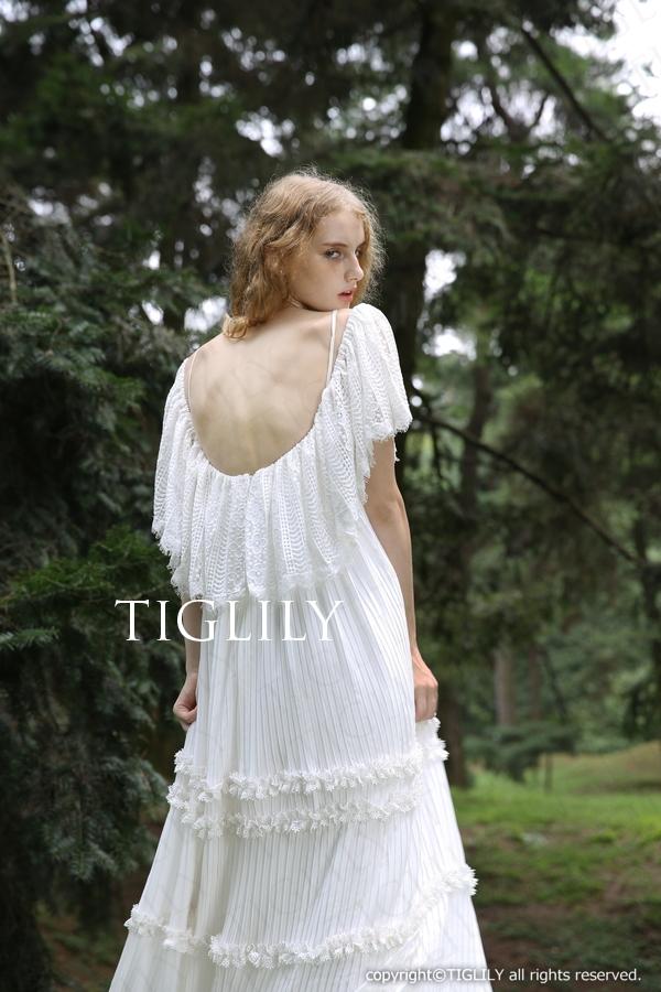 TIGLILY ホワイトドレス w306
