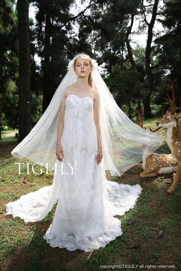 TIGLILY ホワイトドレス w307