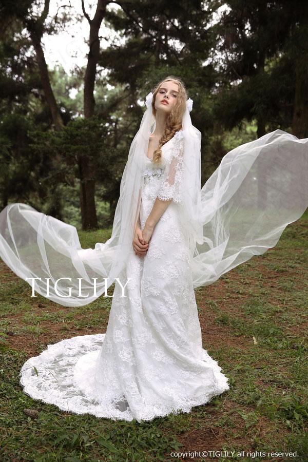 w308 TIGLILY ホワイトドレス