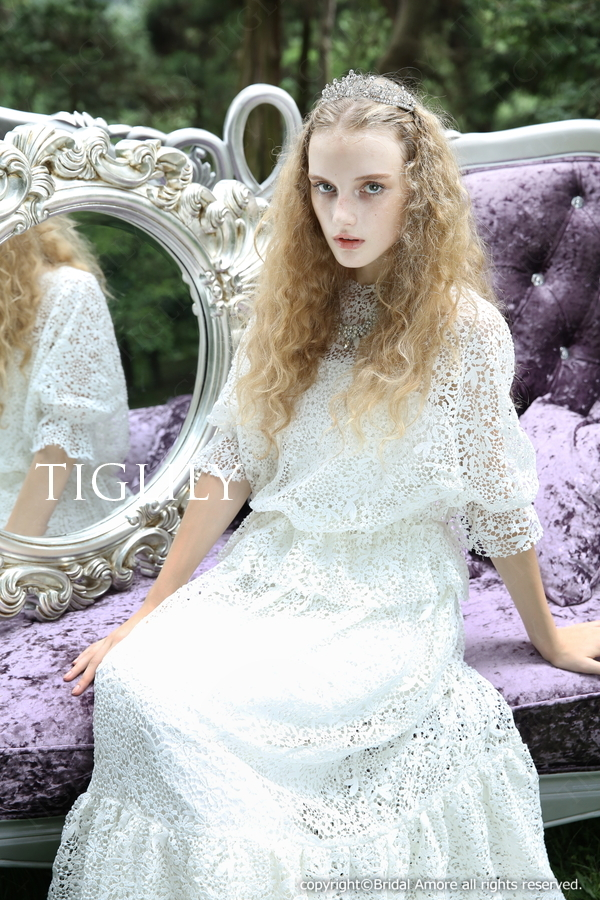 TIGLILY ホワイトドレス w309