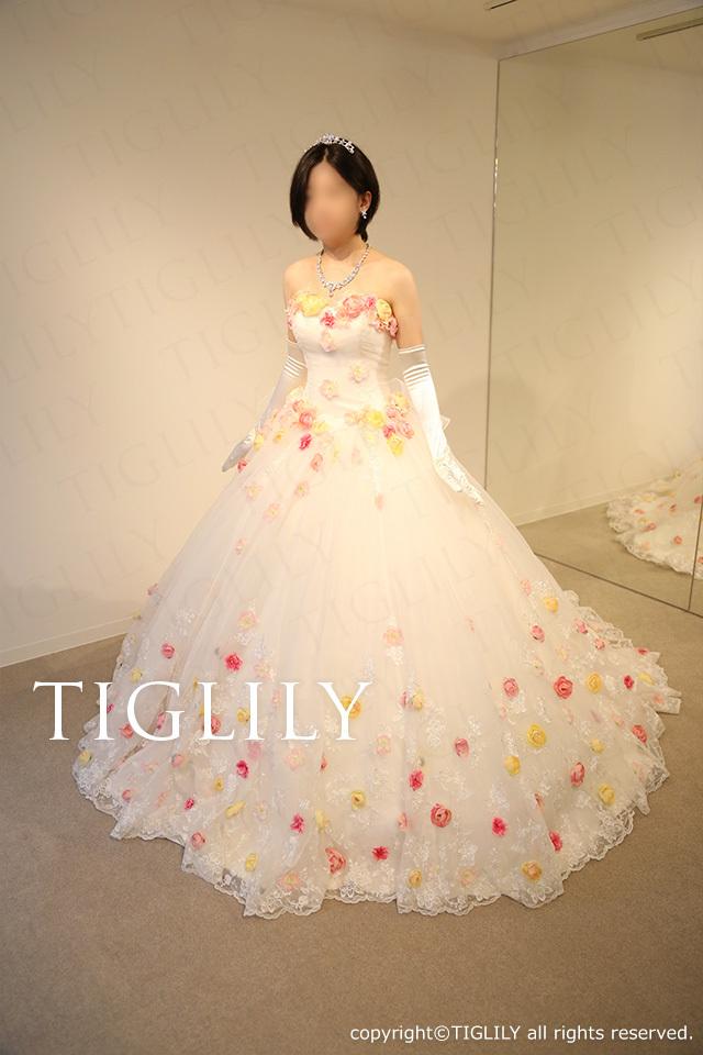TIGLILY お花のドレス w316