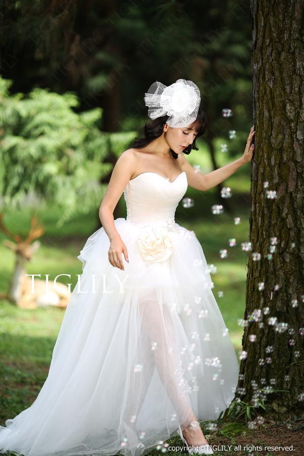 TIGLILY ホワイトドレス w317