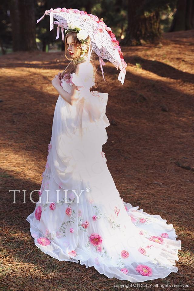 w321 ハイジ Heidi TIGLILY ホワイトドレス