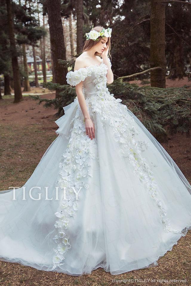 w326 TIGLILY ホワイトドレス ベラ Bella