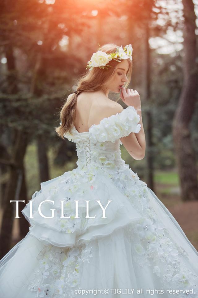 TIGLILY ホワイトドレスw326