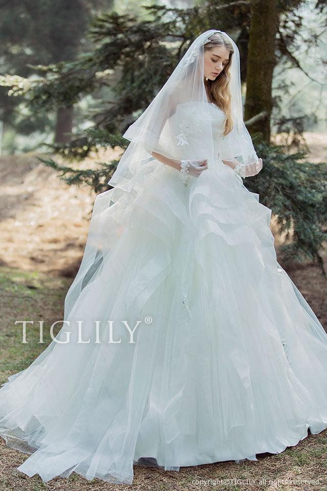 w328 ホワイトドレス TIGLILY メロディ Melody