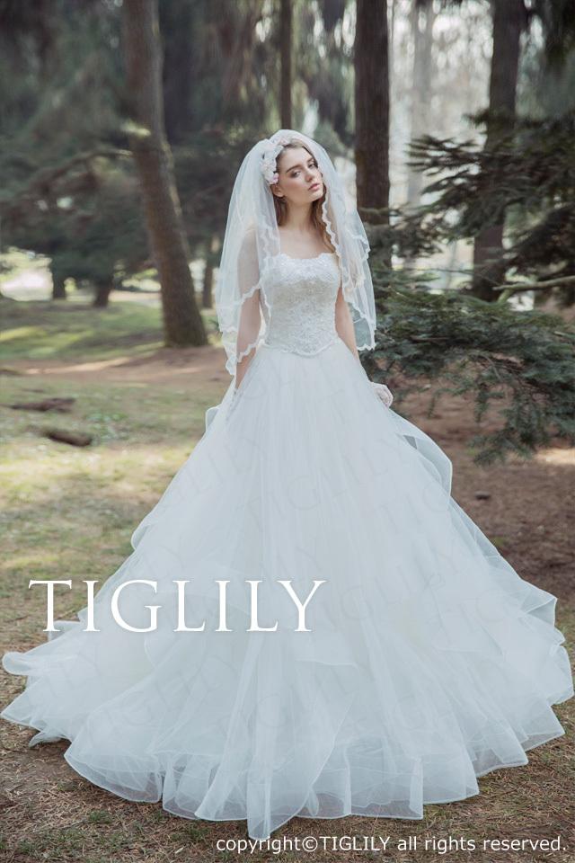 TIGLILY ホワイトドレスw329