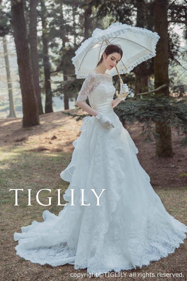 TIGLILY ホワイトドレスw330