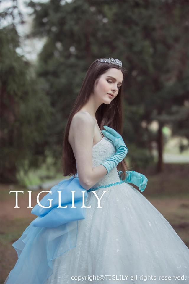TIGLILY ホワイトドレスw337