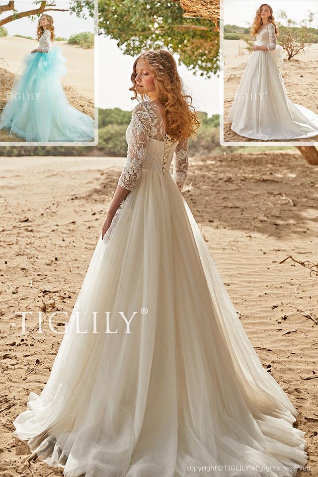 【キャサリン Katherine】ウエディングドレス_ホワイトドレス(w350)    119,800円(税別)