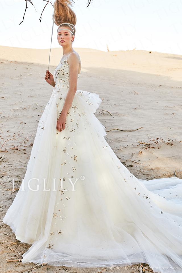 【ルーチェ luce】ウェディングドレス_ホワイトドレス(w358)    139,800円(税別)