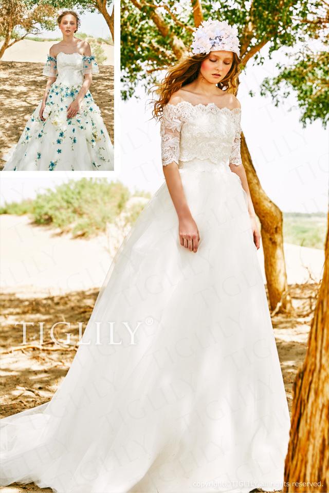 【パメラ Pamela】ウエディングドレス_ホワイトドレス_3way(w364)