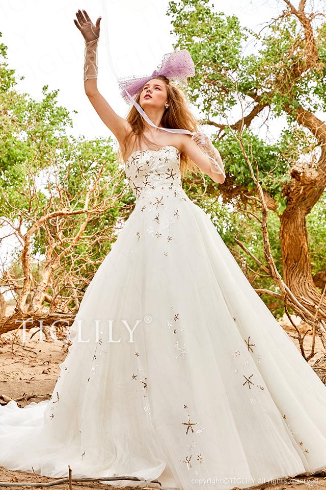 【エニーサ Enisa】ウェディングドレス_ホワイトドレス(w370)    129,800円(税別)