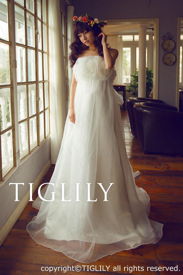 TIGLILY ホワイトドレス w669