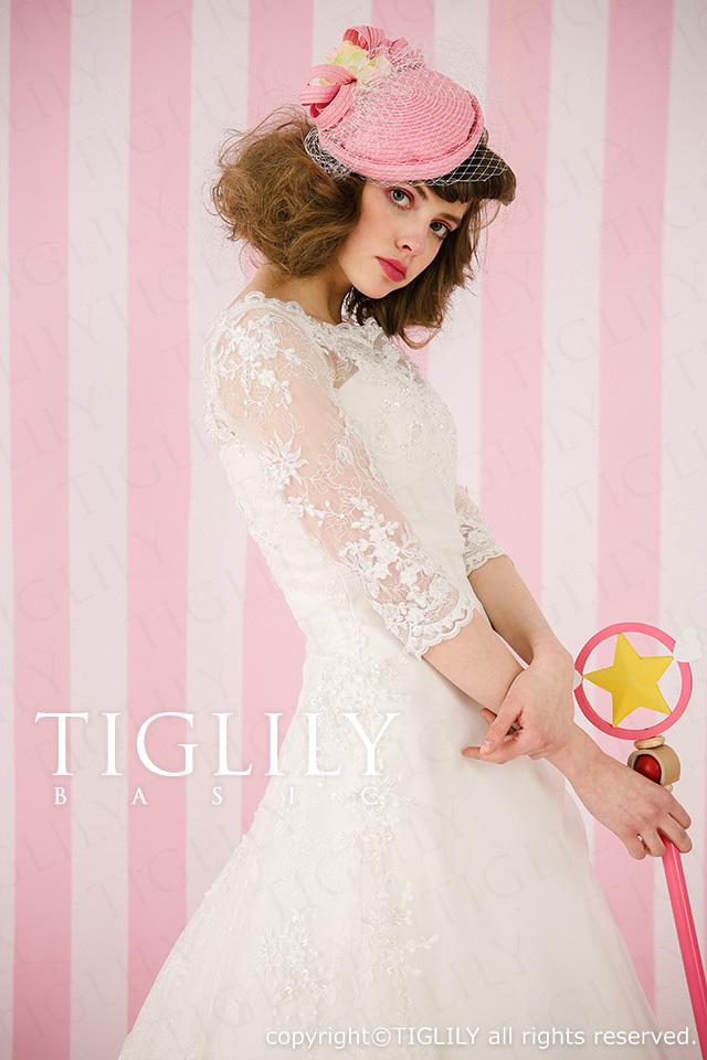 TIGLILY BASIC ホワイトドレスw918